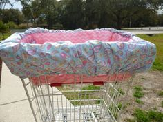 Check out this item in my Etsy shop https://www.etsy.com/listing/266379272/pink-paisley-padded-shopping-cart-cover