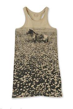 STELLA MCCARTNEY Horse print vest dress