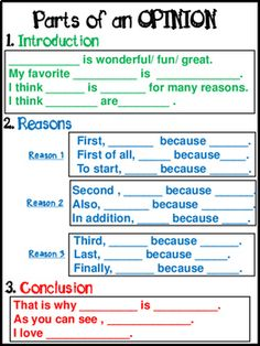Opinion Writing for primary grades - This Opinion Writing product includes FRAMES,EXAMPLES,POSTERS,and PROMPTS.It is designed to TEACH students how to write an opinion by offering a lot of SUPPORT.The students need lots of examples and practice before the Writing Strategies, Writing Lessons, Writing Resources, Writing Skills, Writing Services, Writing Activities, Persuasive Writing, Teaching Writing, Essay Writing