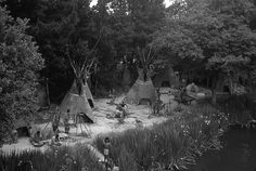 USA California disneyland Indian camp 1970s photography - Download this photo in HD $30 - https://gumroad.com/l/Trpx