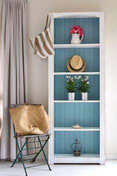 Paint Me White: Beachy Bookcase