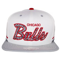 718a2b1d70f Match the Air Jordan 3 Katrinas with this dope Chicago Bull white on cement snapback  hat