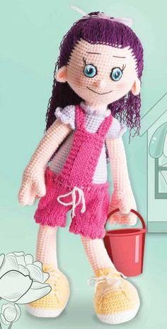 mor saçlı kız amigurumi oyuncak