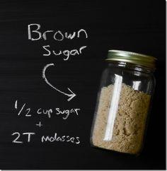 How To:Make Brown Sugar 1/2 Cup Sugar + 2 T Molasses