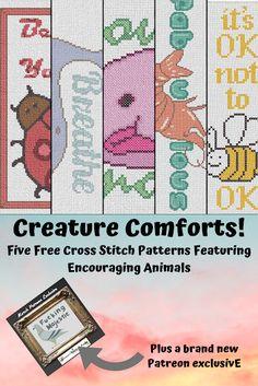 Five New Free Encouraging Animal Cross Stitch Patterns