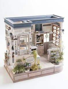 Amazing Miniature kitchen by NUNU's House Vitrine Miniature, Miniature Rooms, Miniature Kitchen, Miniature Crafts, Miniature Houses, Miniature Furniture, Dollhouse Furniture, Mini Kitchen, Kitchen Small