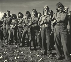 Greek women and men of Greek People's Liberation Army during WWII.