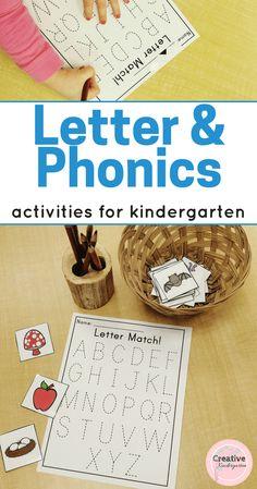 Letter and Phonics Activities for Kindergarten - Creative Kindergarten