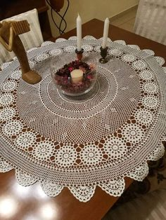 Check out this item in my Etsy shop https://www.etsy.com/listing/502257852/round-white-crochet-lace-tablecloth