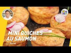 Mini quiches au saumon | Lidl Cuisine - YouTube Quiche Muffins, Mini Quiches, Diners, Chicken, Meat, Cups, Food, Salty Tart, Pies