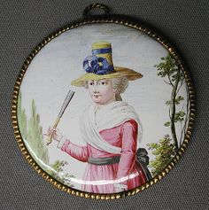 Pendant Date: 1790–1800 Culture: British, South Staffordshire Medium: Enamel on copper