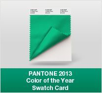 Emerald - Pantone Color of the Year 2013: - Color trends, color palettes , Pantone 17-5641 TCX.