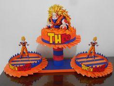 Cumpleaños Dragon Ball Z Bolsitas Centros De Mesa Bandejas - $ 200 ...