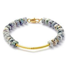 Elegantes Armband mit Baumachat Perlen  von CombaDesigns auf Etsy