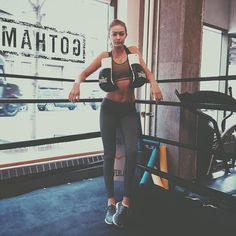 Pin for Later: The Strong and Sexy Workout Choice of Supermodels Right Now Gigi Hadid Everyone's new favorite model Gigi Hadid is constantly posting pictures from her ring of choice: Gotham Gym — a favorite among fashion's elite.