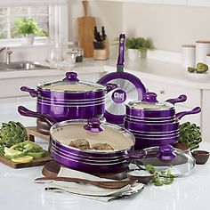 Chef Tested<sup class='mark'> ®</sup> 9-Piece Metallic Cookware Set by Montgomery Ward<sup class='mark'> ®</sup>
