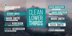 Lower Thirds by AeMar 30 Clean Lower Thirds Description & FeaturesFull HD resolution Compatible with After Effects or CC. Online Web Design, Web Design Company, Website Design Services, Design Websites, Web Design Quotes, Lower Thirds, Creative Web Design, Web Design Tutorials, Text Design