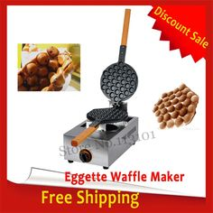 145.90$  Buy here - http://aliz6x.worldwells.pw/go.php?t=32667902600 - Free Shipping Eggette Waffle Machine Egg Puff Waffle Baker Gas Type 145.90$
