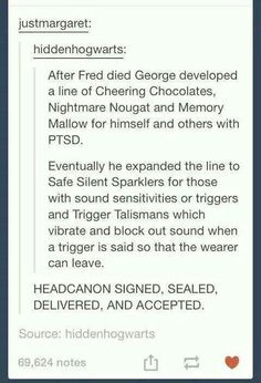 Oh the feels <<<< this is not an adequate reaction. OH THE FEELS... *sobs over Fred's grave*