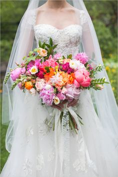 Bright, colorful bouquet.