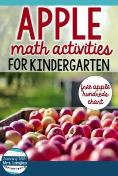 This post shares great ideas to set up your preschool or kindergarten math centers with an apple theme. Includes fine motor activities that promotes handwriting as well as counting, comparing, and one to one correspondence! Teachers will love these becaus Kindergarten Math Activities, Pre K Activities, Hands On Activities, Kindergarten Apples, Kindergarten Class, Preschool Themes, Educational Activities, Apple Unit, Apple Theme