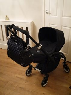 Babaling Coco Changing Bag and Bugaboo Bee Plus All Black Limited Edition