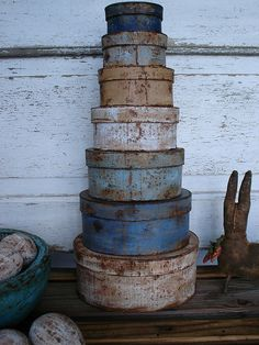 blue/tan/white, 7 stack pantry boxes | Flickr – Condivisione di foto!