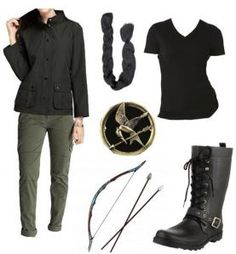 Want to be Katniss Everdeen this Halloween? Check Goodwill for cargo pants and combat boots, a bow and arrows. Bonus points if you find a Mockingjay pin!