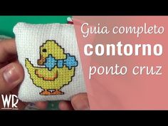 Guia completo do CONTORNO no ponto cruz - Backstitch cross stitch - YouTube