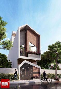 Minimal House Design, Modern Minimalist House, Duplex House Design, Tiny House Design, House Paint Exterior, Exterior Design, Modern Architecture House, Architecture Design, Modern Family House