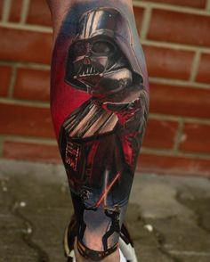 Darth Vader tattoo by Stefan Müller