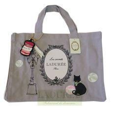 new Laduree Tote bag cat cotton rare