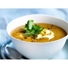 Curried vegetable soup recipe - By Australian Women's Weekly, Warm, healthy and delicious- this curried vegetable soup is the perfect winter dinner for any night of the week. Suitable for the 2-Day Fast Diet.