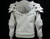 """Sirius, The White Knight Hoodie.  """"The Knight"""" series are hand-crafted by me, Christine Kim. This unique design hoodie is tailored to fit YOUR measurements!"""