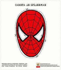 """PODRÁS PONERTE ESTA CARETA DE """"SPIDERMAN"""" en carnavales, en cualquier fiesta de cumpleaños, de fin de curso, en navidades, hallowe... Spiderman Birthday Cake, Superhero Birthday Party, 3rd Birthday Parties, Spiderman 3, Valentines For Boys, Valentine Box, Mascara Spiderman, Fête Spider Man, Superman Mask"""