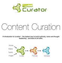 "Introduction to Content Curation - Short article with link to download a PDF ebook on content curation. If you're retweeting on Twitter, you're curating content. If you went ""Huh?"" click through and download the ebook. The link is in the green text area just below the above image. No email address or intrusive registration required."