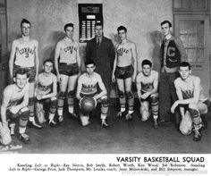 1946 BASKETBALL TEAM CONRAD HIGH SCHOOL