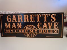 Man Cave Personalized Wooden Carved Established by TKWoodcrafts, $44.95