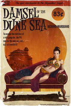 A Donzela do Mar de Dunas - Um Romance Pulp -- Arte por Timothy Anderson