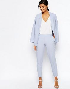 Go for a chic look with this tailored suit.