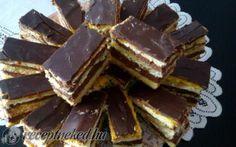 Mozart szelet recept fotóval Hungarian Recipes, Hungarian Food, Cake Bars, Fun Desserts, Cake Cookies, Nutella, Deserts, Goodies, Cooking Recipes