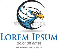 abstract vector eagle head shape with the view straight ahead, as a symbol or logo - stock vector