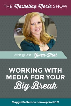 If being featured in media is one of your small business goals, then you need to connect with media strategist @gwenelliot. Hear what Gwen has to say about mastering your pitch to the media on the Marketing Moxie podcast.
