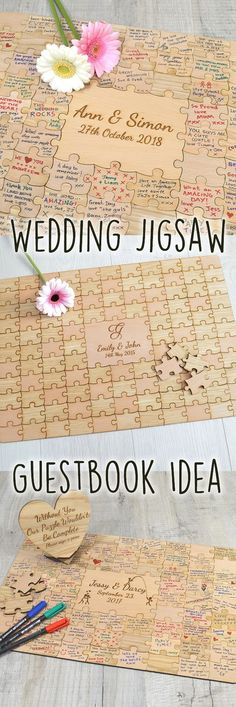 Introducing our beautiful wedding jigsaw puzzle piece guest book. Made up entirely of beau… cool Introducing our beautiful wedding jigsaw puzzle piece guest book. Made up entirely of beautiful mixed light and dark real oak and beech wood… Wedding Ceremony Ideas, Fall Wedding, Diy Wedding, Rustic Wedding, Dream Wedding, Wedding Book, Wedding Hacks, Wedding Parties, Wedding Favors