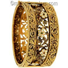 antique gold bangle designs - Google Search