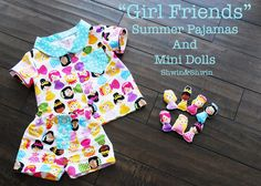 """Best Friends"" Summer Pajamas {Free Pattern}"