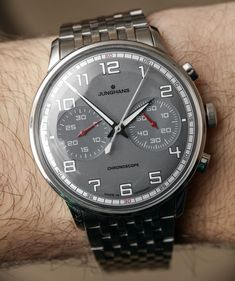 """1,822 Likes, 13 Comments - aBlogtoWatch (@ablogtowatch) on Instagram: """"Junghans Meister Driver Chronoscope Watch Review. Check out the article on our website at…"""""""