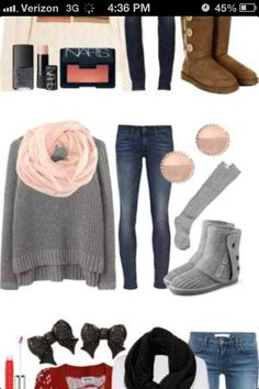 Very cute outfit for school !!