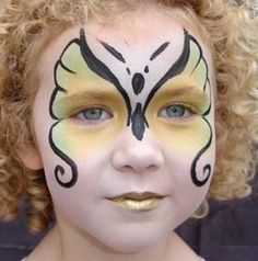 Face Paint Designs for the Kids. Very pretty butterfly!