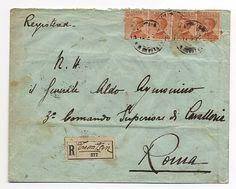 Racc. da Tientsin 26.9.27 a Roma con Regno 60 c., 4 es. (205) con ann. del Battaglione Italiano in Cina. Rara.